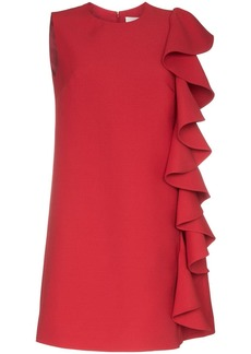 Valentino ruffle-trimmed A-line mini dress