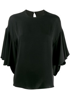 Valentino ruffled batwing blouse