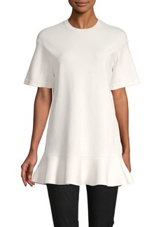 Valentino Ruffled Short-Sleeve Top