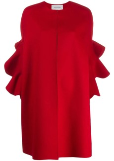 Valentino ruffled sleeve cape