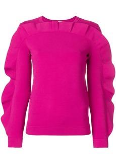 Valentino ruffled sweatshirt