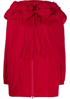 Valentino ruffled tied loose jacket