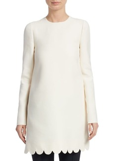 Valentino Scallop Trim Side Slit Tunic