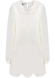 Valentino scalloped edge dress