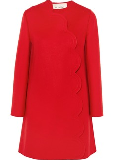Valentino Scalloped Wool And Cashmere-blend Coat