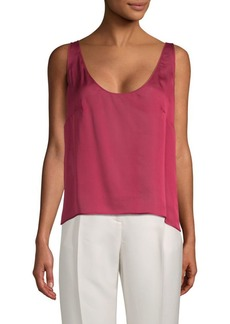 Valentino Scoopneck Silk Tank Top