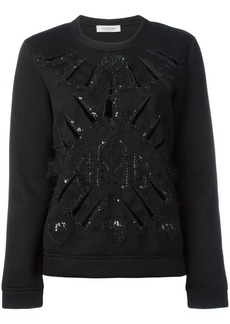 Valentino sequin embellished knitted sweater