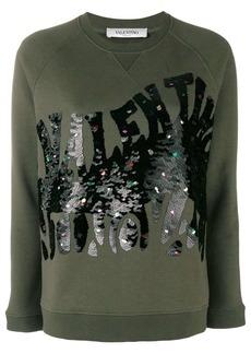 Valentino sequin embellished sweatshirt