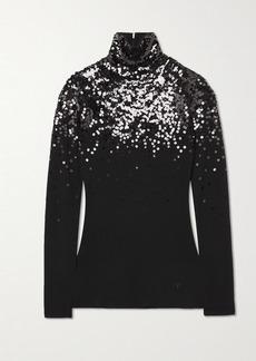 Valentino Sequin-embellished Wool Turtleneck Sweater
