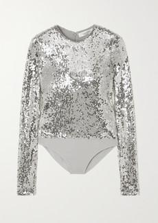 Valentino Sequined Jersey Bodysuit