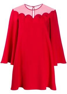 Valentino sheer panel mini-dress