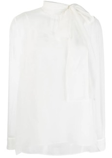 Valentino sheer pussy bow blouse