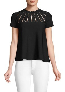 Valentino Short-Sleeve Jersey Top