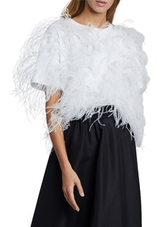 Valentino Short-Sleeve T-shirt With Feathers