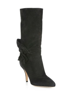 Valentino Side Bow Leather Booties