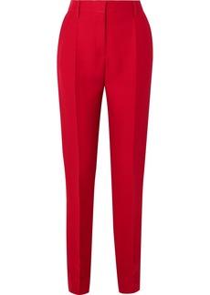 Valentino Silk And Wool-blend Slim-leg Pants