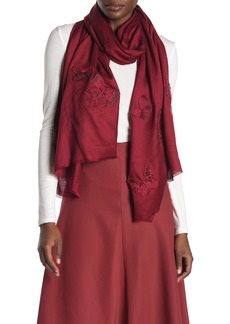 Valentino Silk Butterfly Embroidered Stole