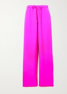 Valentino Silk-crepe Wide-leg Pants