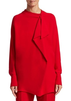 Valentino Silk Drape Blouse