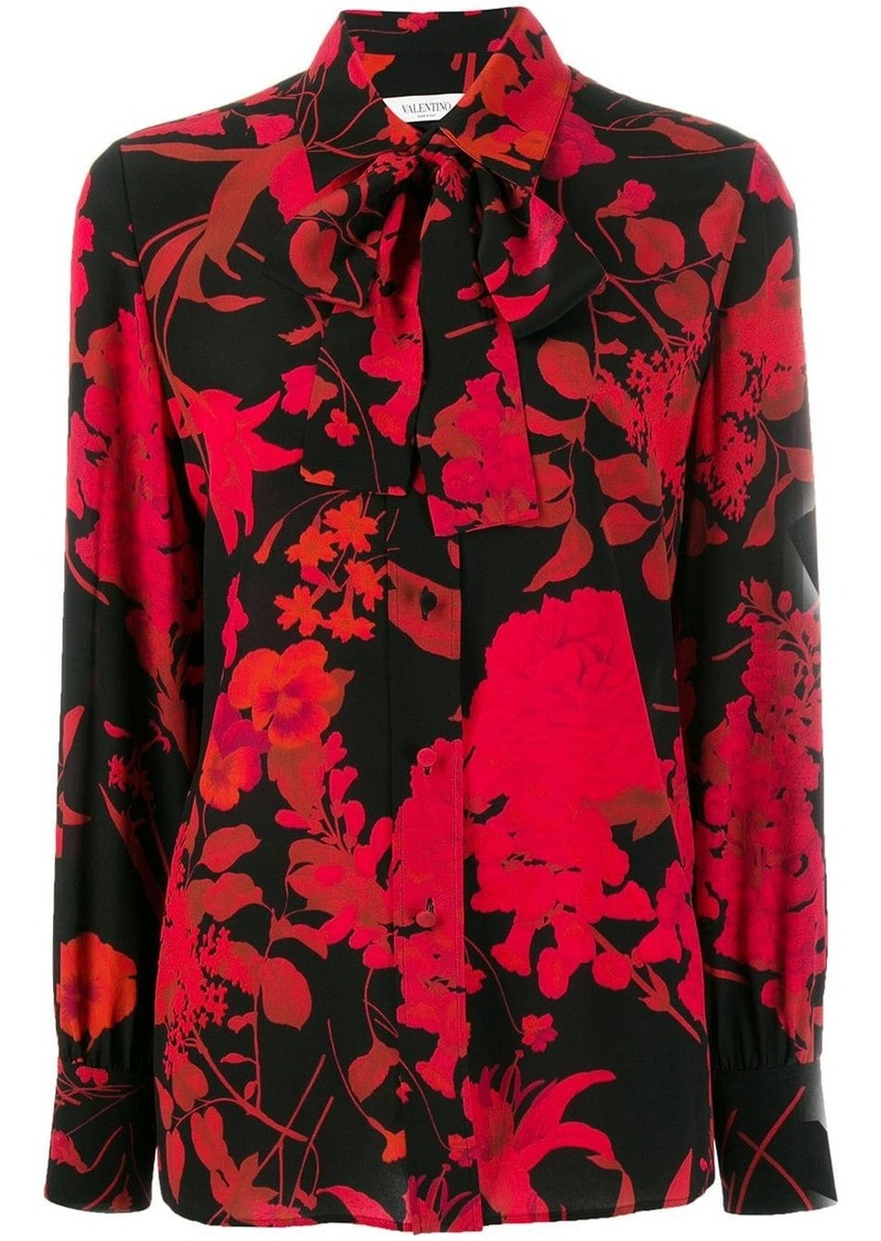 Valentino silk floral print blouse