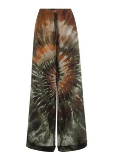 Valentino Silk Tie-Dye Pants