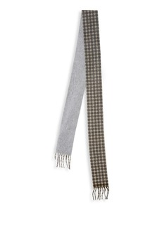 Valentino Skinny Cashmere Print Scarf