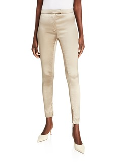 Valentino Skinny Stretch-Silk Pants