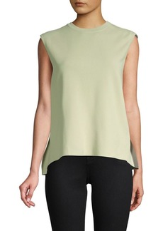 Valentino Sleeveless Hi-Lo Top