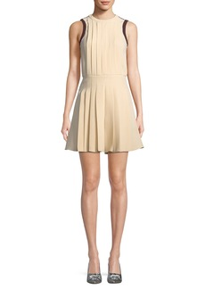 Valentino Sleeveless Pleated Cady Romper