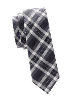 Valentino Slim Checkered Silk Tie