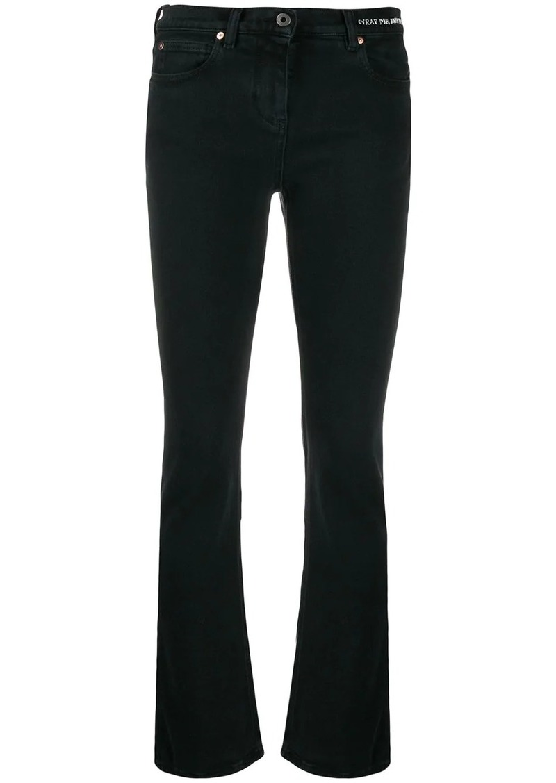 Valentino slim-fit poem detail jeans