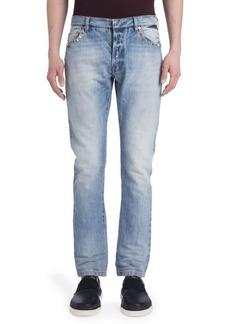 Valentino Slim-Straight Rockstuded Jeans