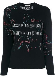 Valentino slogan printed sweatshirt