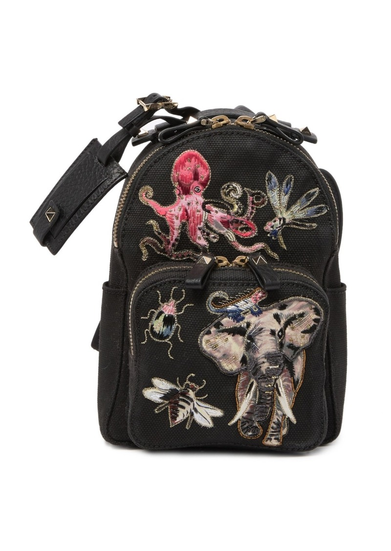 Valentino Small Embroidered Backpack