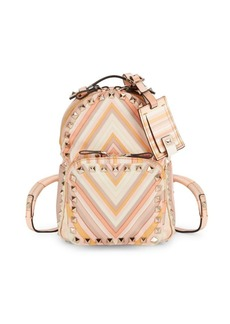 Valentino Small Printed Nylon Backpack