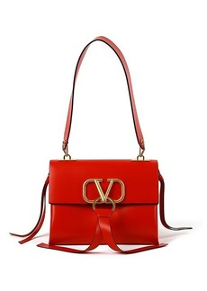Valentino Small V-Ring Leather Shoulder Bag