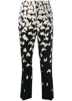 Valentino Snowdrop print trousers