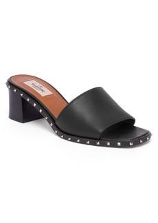Valentino Soul Rockstud Leather Block Heel Slides