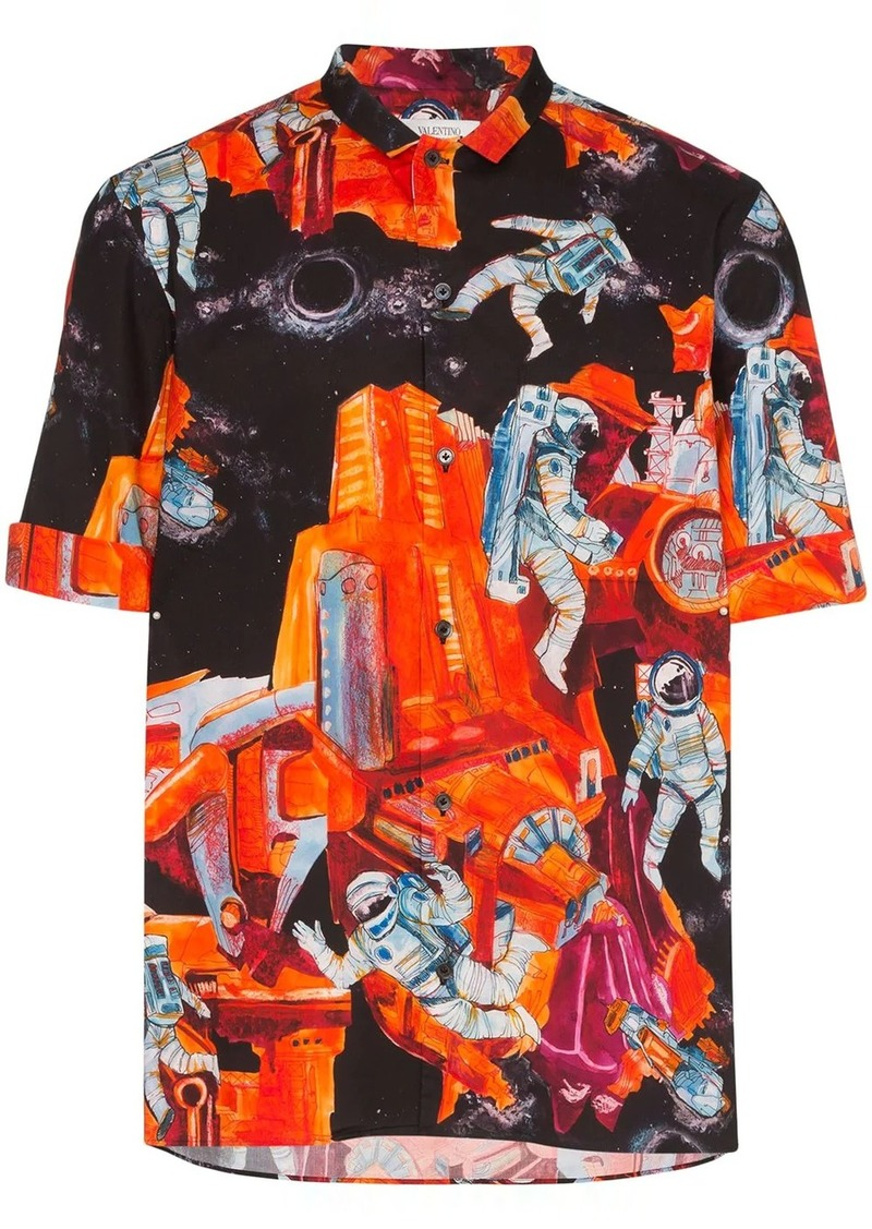 Valentino space-print shirt