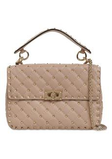 Valentino Spike Embellished Leather Bag