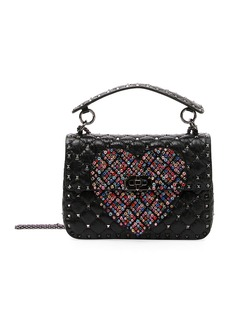 Valentino Spike.It Medium Quilted Heart Shoulder Bag