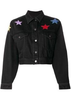 Valentino star embroidered denim jacket
