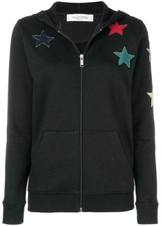 Valentino star embroidered hoodie