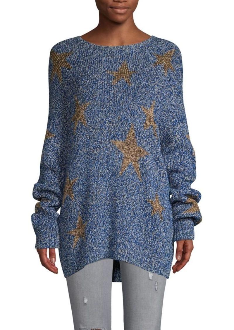Valentino Star-Print Cotton & Wool Blend Sweater