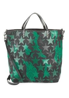 Valentino Star-Print Leather Tote