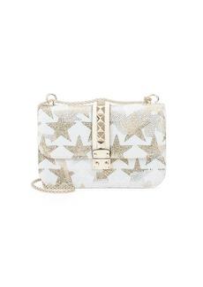 Valentino Stars Embellished Leather Shoulder Bag
