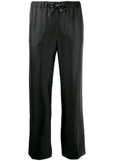 Valentino straight-leg logo ribbon trousers