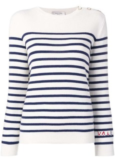 Valentino striped knitted top