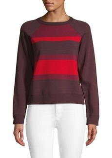 Valentino Striped Raglan-Sleeve Sweater