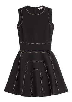 Valentino Studded Flared Mini-Dress